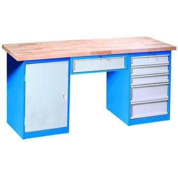Dielenský stôl s kontajnermi a podvesom