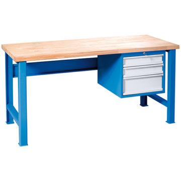 Dielenský stôl s troj -  zásuvkovým podvesom